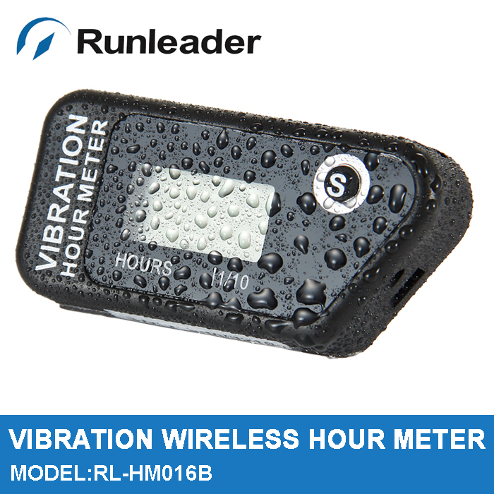RL-HM016B Digital Wireless Vibration Hour Meter Resettable Meter For Motorcycle ATV Dirt Bike Lawn Mower Machine Equipment(China (Mainland))