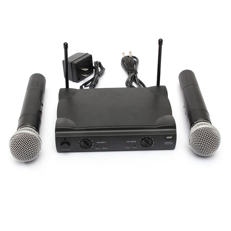 NEW Hot Sale Wireless Cordless DJ Karaoke KTV Club Party Public Music Concert Home Address Microphone System Professional(China (Mainland))