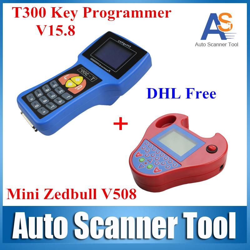 2016 T-300 V15.8 Auto Transponder Key Pro T300 T 300 Supplier Best Match No Tokens Limited Mini ZedBull zed bull Key Programmer(China (Mainland))