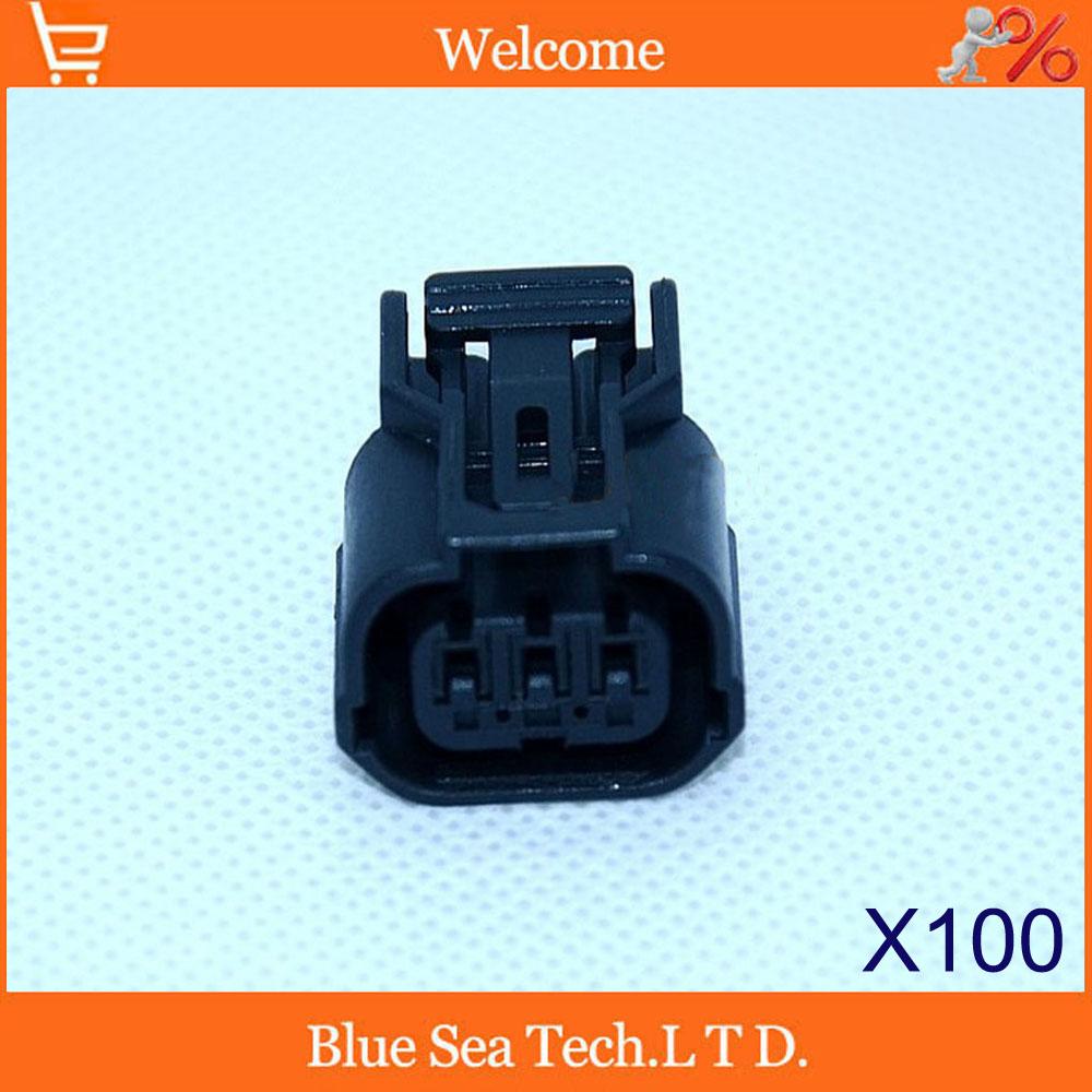 100шт разъем 3pin авто правообладателя штекер,Автоматический водонепроницаемый электрический разъем,вилка хром-ванадиевой авто задний фонарь для Honda,Тойота авто.