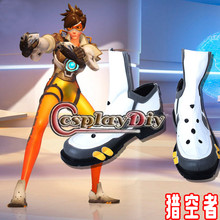 Overwatch Traceur Cosplay Chaussures Lena Oxton Combats Bottes Accessoires Custom Made New