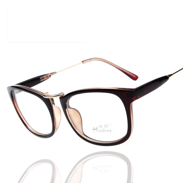 Large half frame gafas de montura de gafas feminino ...