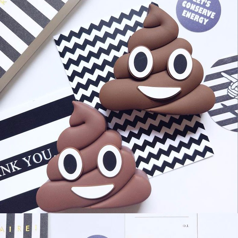 GOESTIME New Design 2000mah Poops Emoji Power bank Battery Portable Cute Cartoon Phone Battery Charger For All Mobile Phone
