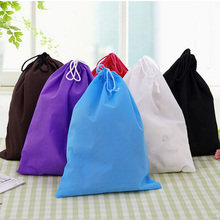 30*40cm Thick Non-Woven Fabric Storage Bags Convenient Square Large Capacity Travel Bags(China (Mainland))