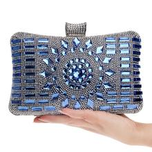 NEW diamond silver evening bags top quality gold clutch bag blue bag party wedding bridal purse 4 colors