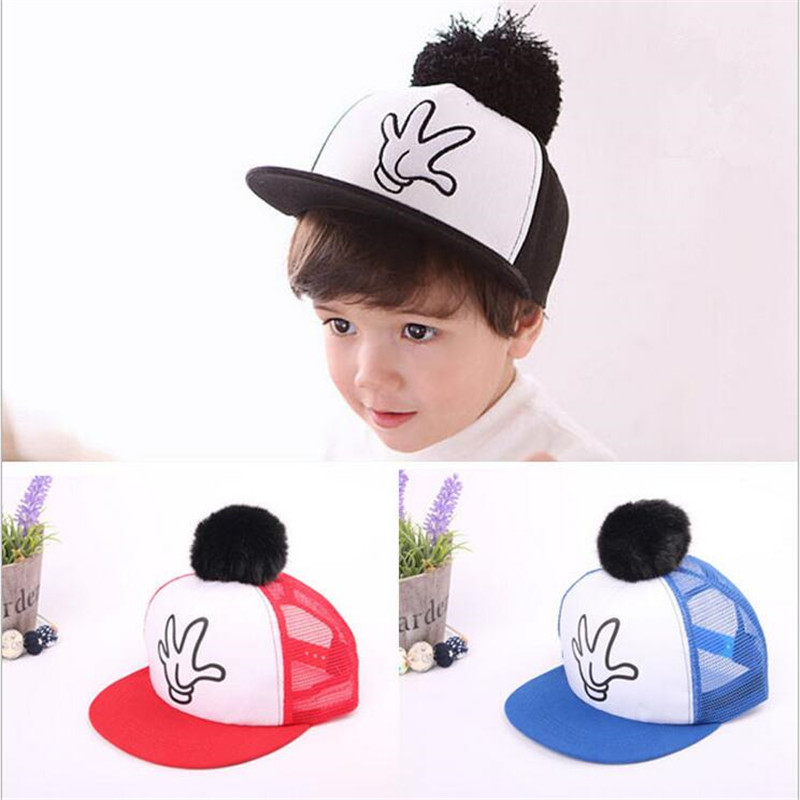 2016 New Hot Girl Boy Baby Baseball Caps Children Casual Sports Cap Kids Snapback Hat Hip Hop Hat Summer Kids Fashion Caps(China (Mainland))