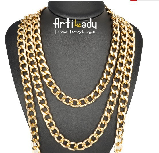 """Artilady 18K gold plating jewelry long chains  necklace for  women 2015 hot sale  size 18""""24""""38"""" free shipping"""