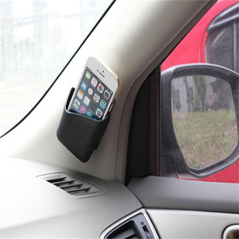 2x Car Universal Adhesive Storage Multi Use Holder For Smartphone GPS PDA &wholesaleOrganizer Interior free shipping(China (Mainland))
