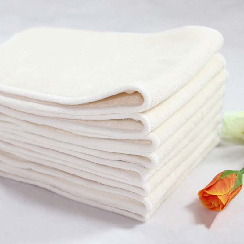 10 Pcs Baby Cloth Diapers 4 Layers Bamboo Inserts Washable Wholesale 100% Bamboo Nappy Reusable Nappies Insert Size: 36*14cm(China (Mainland))