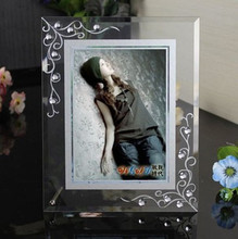 7 Inch Modern Glass Tabletop Picture Frame Best Gift For Wedding Photo Frame Free Shipping(China (Mainland))