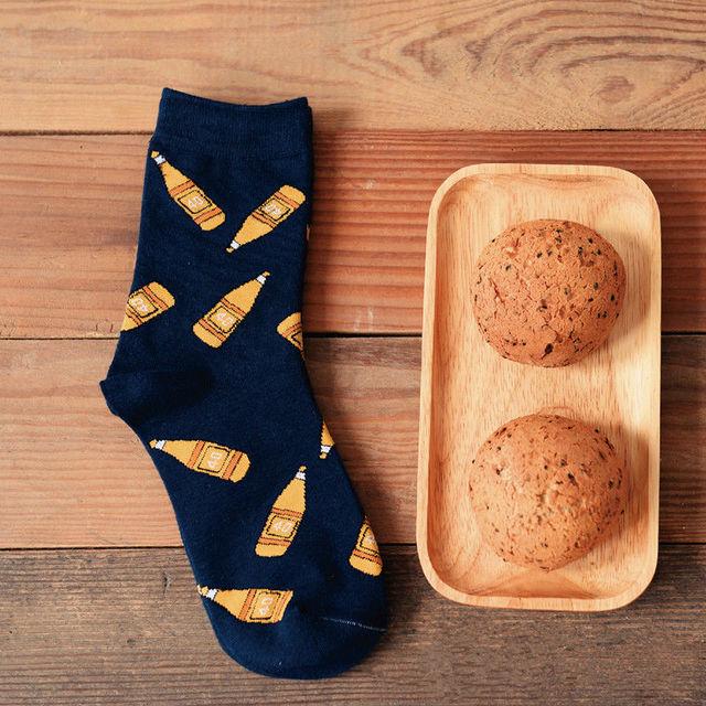 Марка Caramella новинка фруктовый сок мультфильма женщин и мужчин апельсиновый сок трубки носок смешные чистого хлопка носки для любителей