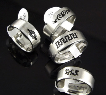 12 pcs Black Etched Carving High Polished Comfort Ring Faceted Edges Stainless Steel Rings Fashion Jewelry Free Shipping