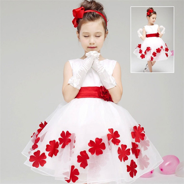 AliExpress.com Product - Super Cute Flower Lace Princess Dress Girls wedding dresses Children's clothes vestido menina Bow Zipper Covered Button