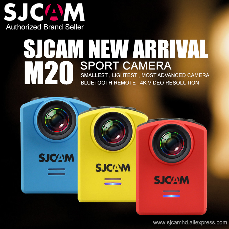 In Stock! Original SJCAM M20 Wifi Gyro Mini Action Sport Camera 4K 24fps NTK96660 16MP Remote Waterproof DV With RAW Format(China (Mainland))