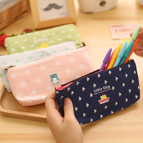 Vintage animal printing pen & pencil case Fresh design school pencil bag Zakka Cute stationery estuches school supplies(China (Mainland))