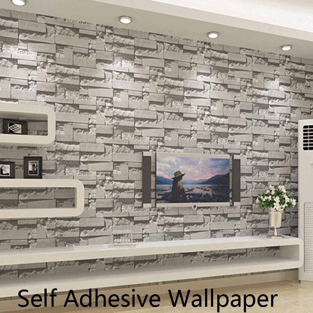 self adhesive brick stone wallpapers 3d wall paper