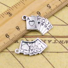 Buy 10pcs Charms playing cards poker train seqence 24*13mm Tibetan Silver Plated Pendants Antique Jewelry Making DIY Handmade Craft for $1.29 in AliExpress store