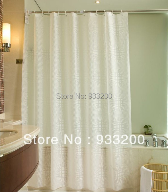 Buy White Ballpeva Material Bathroom Curtain Shower Curtain White Color