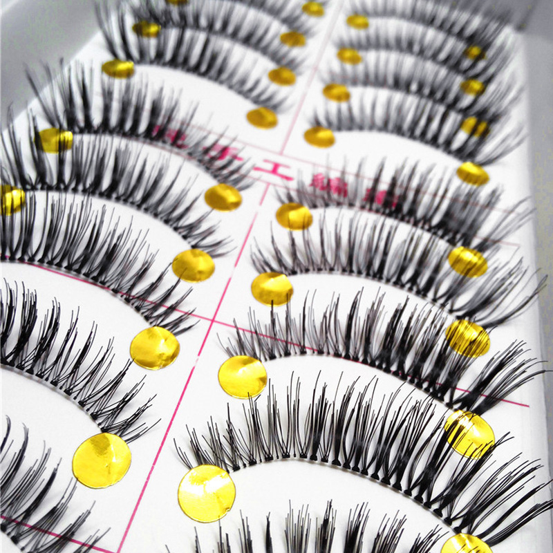 10Pair/Lot Thick False Eyelashes Mink Eyelash Extension Fake Lashes Voluminous Makeup Fake Eyelashes Eye Lashes(China (Mainland))