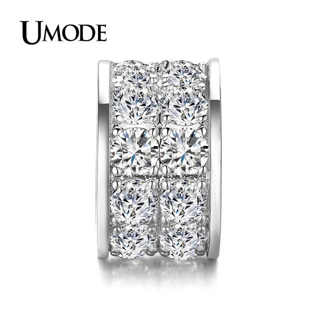 Umode игристое белое золото покрытием полный проложили CZ алмаз DIY подвески для ...