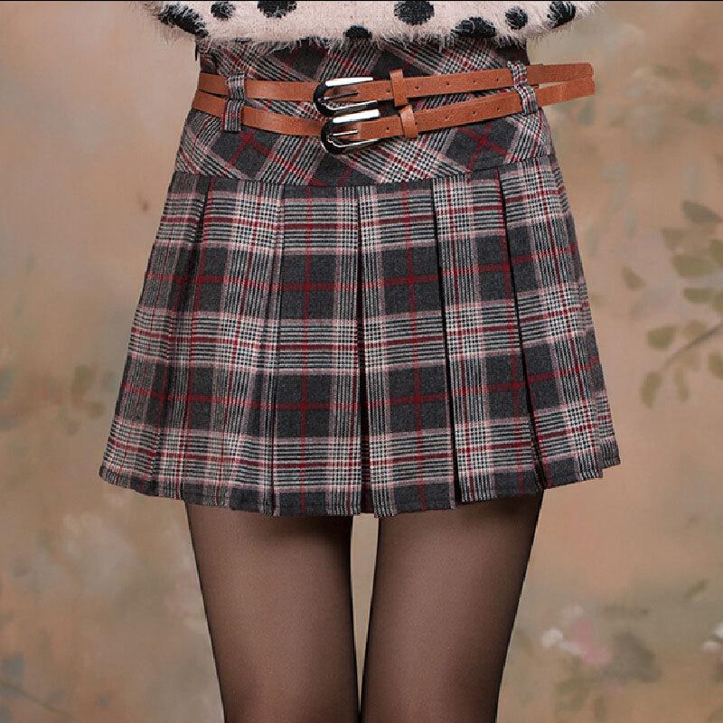 мини юбка шотладка: