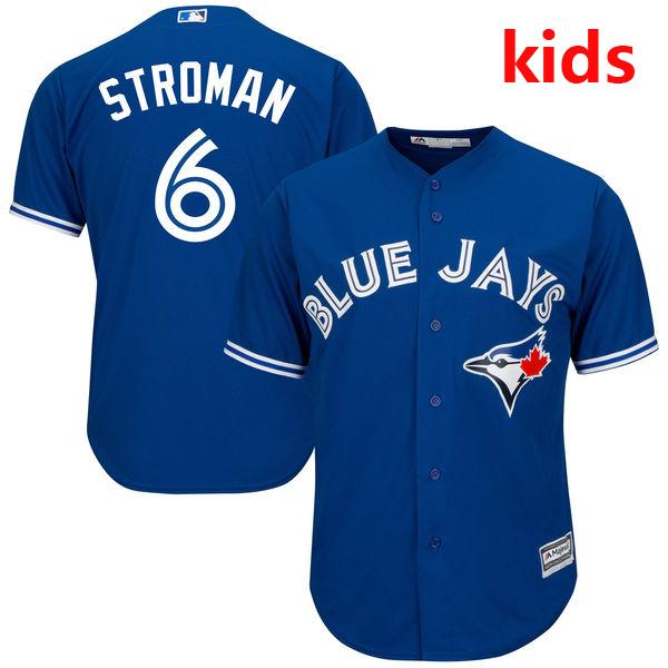 Youth/ Kid's Toronto Blue Jays Marcus Stroman White Home Cool Base Baseball Jersey(China (Mainland))