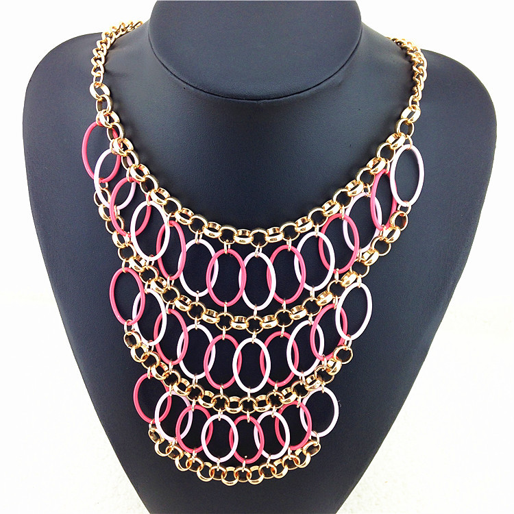 Statement Necklace 2015 Hot Sale Women New Jewelry Pendant Necklaces Brand Of Leveling Design Accessories Resin Fashion Necklace(China (Mainland))