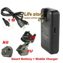Carregadores & Docas Carregador de Telefone USB plus EU USB para Samsung Doca Cradle Bateria Reino Unido AU Plug Galaxy S6 G890 Ativo J5 J7