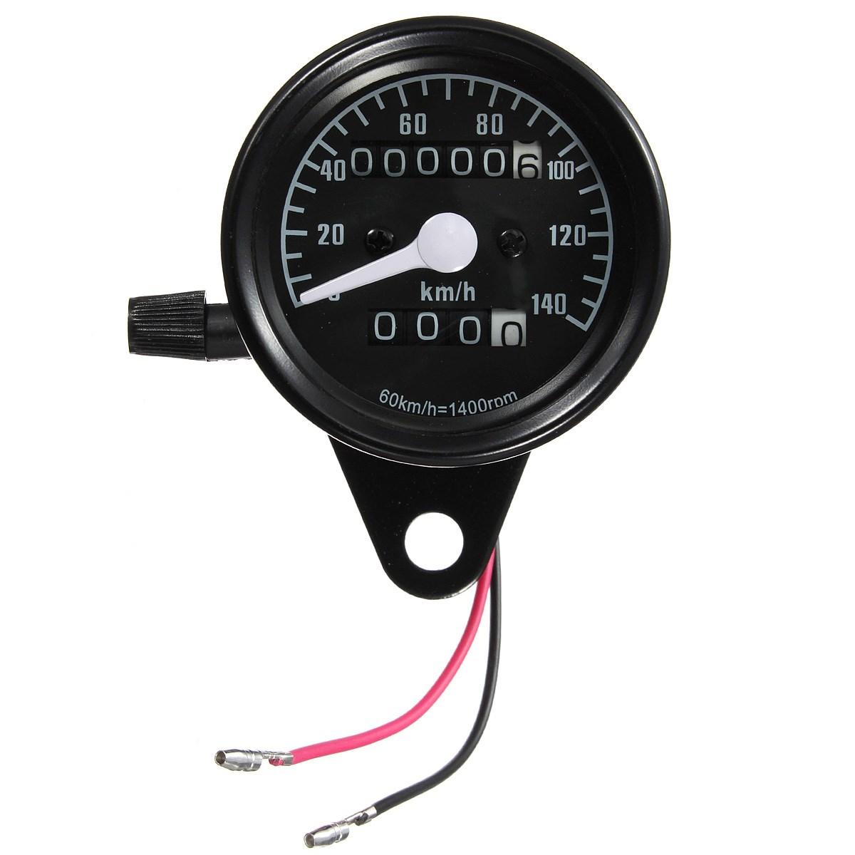 Motorcycle Dual Odometer Speedometer Gauge Led Backlight Test Miles Black Face<br><br>Aliexpress