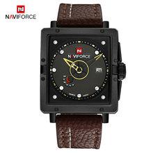 NAVIFORCE hommes Quartz sport montres haut tendance marque bracelet en cuir créatif étanche montres homme horloge Relogio Masculino(China)