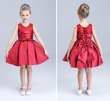 Fashion wedding kids dresses for girls cotton red gauze Princess dress for Kids party Dress for girls prom elsa costume dresses