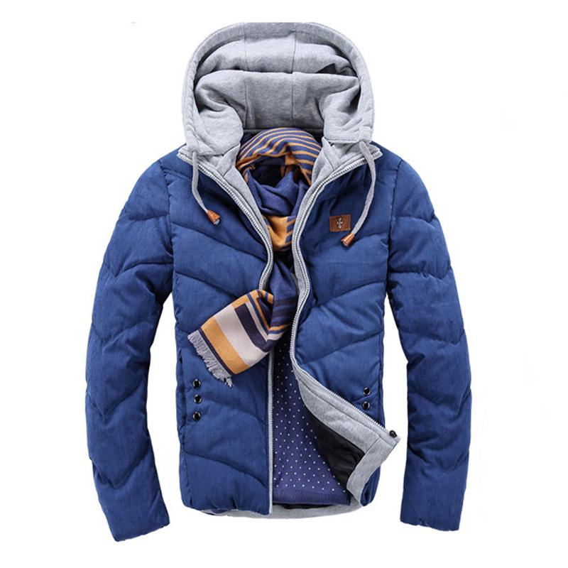 New 2015 Brand Winter Jacket Men Warm Cotton Jacket Casual Parka Men padded Winter Jacket Casual Handsome Winter Coat Men