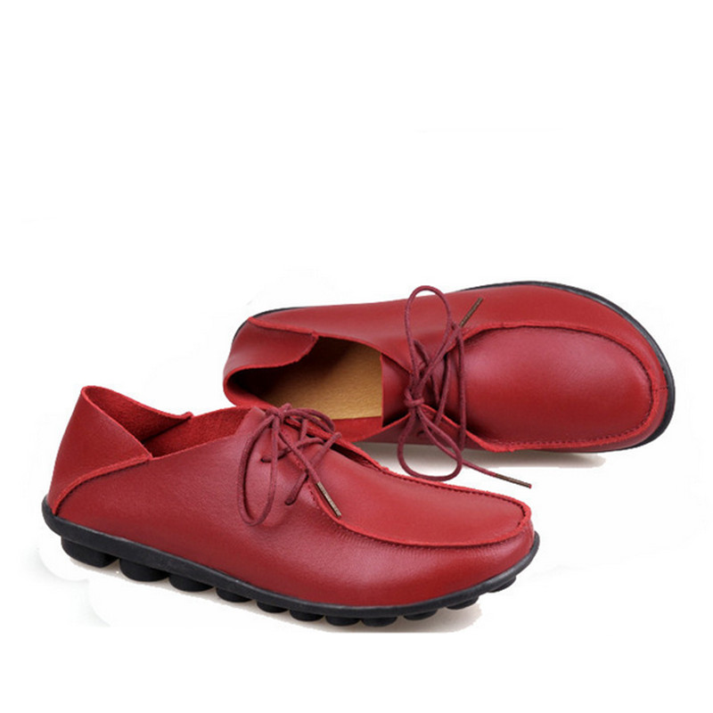 Spring and autumn new female Moccasins flat genuine leather doug shoes fashion casual leather women shoes all-match lazy shoes