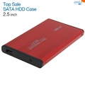 USB 2 0 2 5 Inch SATA Enclosure External Case For Notebook Laptop Hard Disk Free