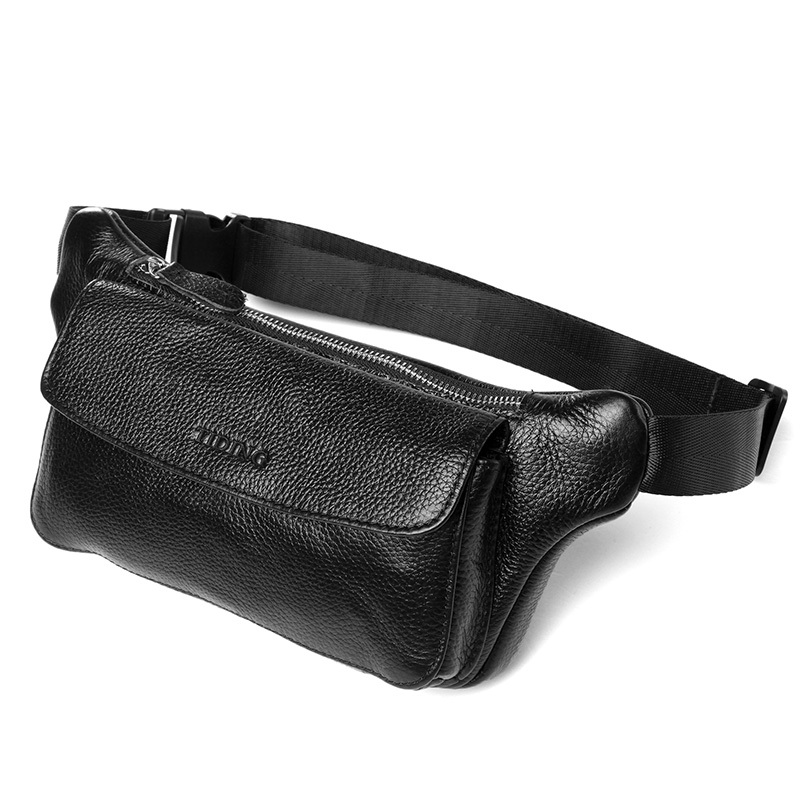 TIDING Brand New Waist Bag Genuine Leather Fanny Pack Hip Pouch For Men Women Bag 3090(China (Mainland))