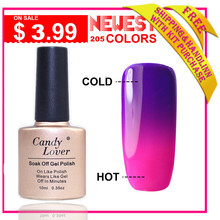 Candy Lover HOT 1 PCS Temperature Change Nail Color UV Gel Polish Nail Gel for Nail soak off gel polish 10ml