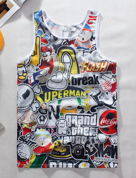 Free Academia Print Gym Gasp 2015 Summer Casual Men's Tank Topmen Basketball Top Brand Fitness Sport Men 3d Tops