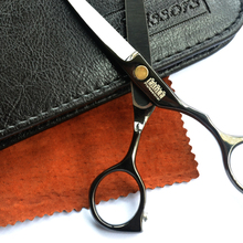 Black titanium 5.5 inch high quality hairdresser hair scissors set Free Shipping hair salon product hot sale gift for you(China (Mainland))