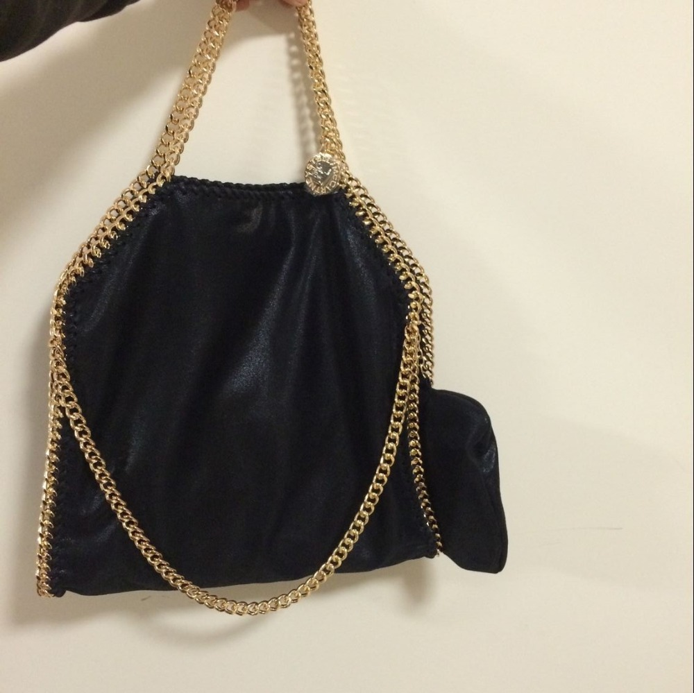 real picture 2015NEW  Factory Outlet 1:1 Falabella Shaggy lady shoulder bag golden chains luxury high end original PVC handbags<br><br>Aliexpress