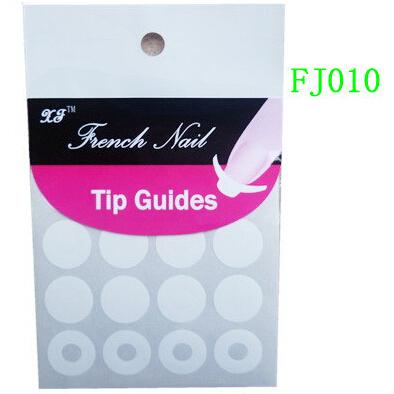 2015 Trendy Manicure DIY French Nail Art Tips Nail Sticker Form Fringe Stencil FJ010 Round Shape French Nail Sticker On Nails(China (Mainland))