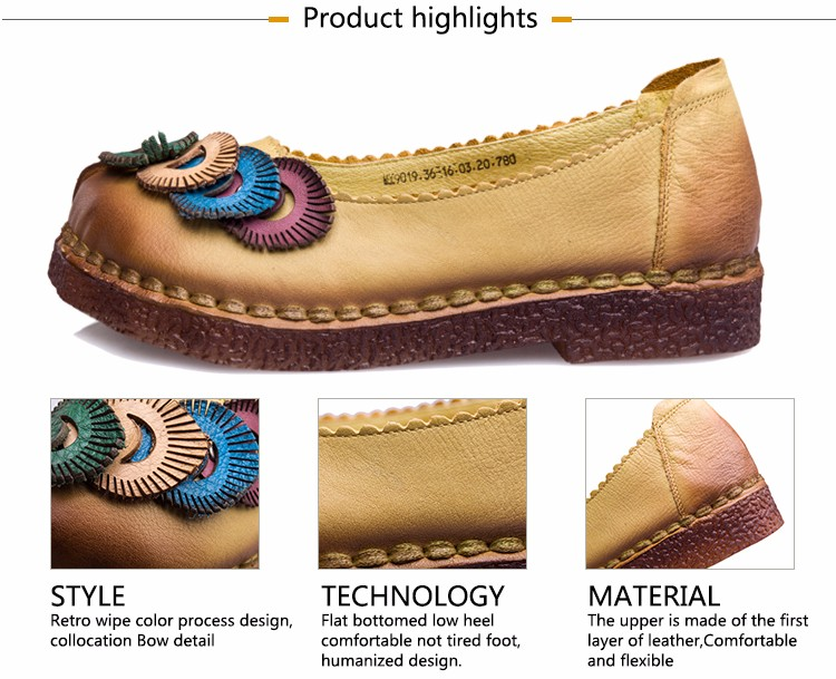 Women Genuine Leather Flat Shoes Loafers Female Solid Comfortable Casual Shoes Plus Size Soft Real Leather Handmade Women Flats