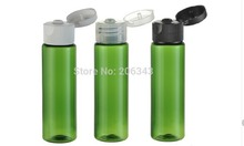 30ml green plastic PET bottle ,toilet water bottle,lotion bottle with flip lid