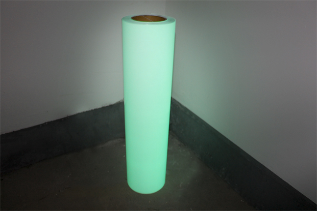 "Free Shipping 20"" x2yards Glow in the Dark T-shirt PU Heat Transfer Vinyl for Cutting Plotter Press(China (Mainland))"