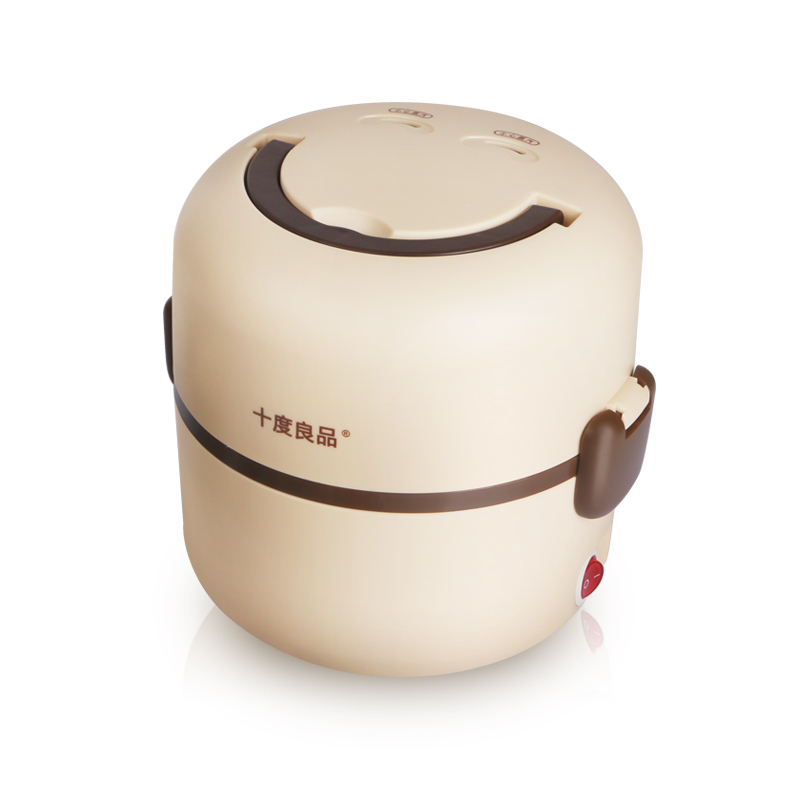 Electric heating lunch box sd-901 stainless steel double-deck cooking lunch box(China (Mainland))