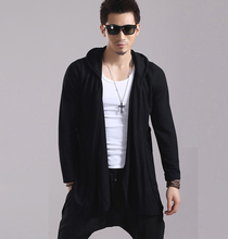 Spring and summer Japanese Korean men sweater coat Sweatshirt Hoodie long cardigan Mens personality trend(China (Mainland))