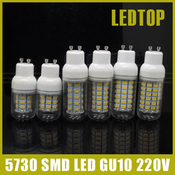 CE Rohs 5730 SMD GU10 LED Lamp 9w 10W 12w 15W 20w 25W AC 220V Ultra Bright 5730SMD LED Corn Bulb light Chandelier(China (Mainland))