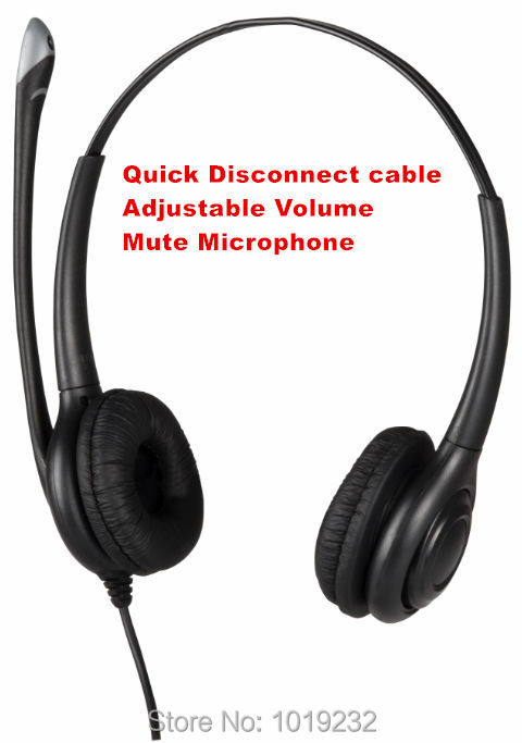 Volume adjustment,Mute switch 2.5mm call center headset,2.5mm plug telephone headset RJ9 plug or 3.5mm plug optional QD cable(China (Mainland))