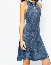 New style 2016 denim dress women dress vestidos femininos Overalls Dresses denim dress preppy style(China (Mainland))