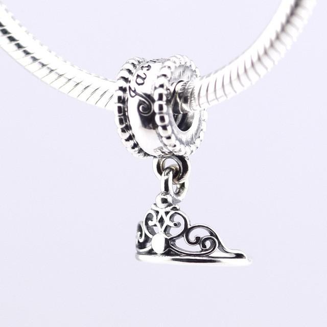 925 - серебристо-ювелирные бусины жасмин в тиара корона бусины Fit пандора оригинальный браслет серебряный DIY 925 оптовая продажа