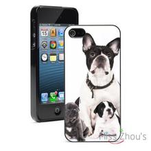 Boston Terrier Dog Family Protector back skins mobile cellphone cases for iphone 4/4s 5/5s 5c SE 6/6s plus ipod touch 4/5/6